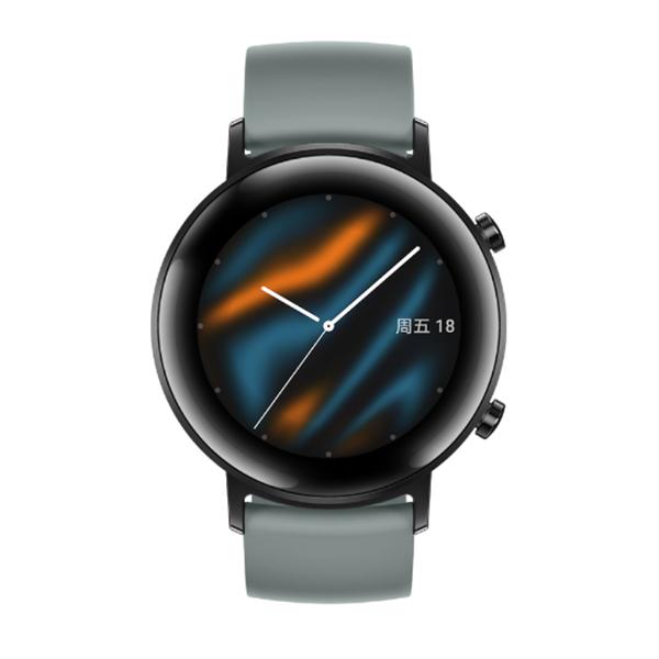 【限量送粉色錶帶+臂帶】HUAWEI Watch GT2 運動版 42mm (湖光青)