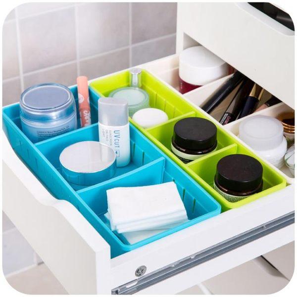 [超豐國際]多格抽屜收納盒廚房餐具收納小盒子櫥柜桌面塑料分隔整理盒