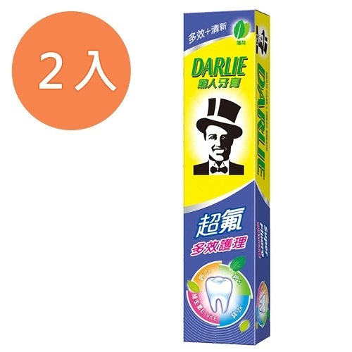 黑人 超氟多效護理 牙膏 180g (2入)/組【康鄰超市】