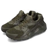 【海外限定】Nike 武士鞋 Huarache Run SE GS 綠 黑 運動鞋 女鞋 大童鞋【PUMP306】 909143-300