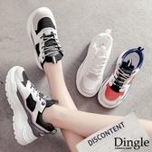Dingle丁果ღ 韓版ulzzang網面透氣厚底休閒鞋老爹鞋(三色35-40)
