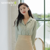 春季上衣女 韓版襯衫女設計感小眾很仙的襯衣雪紡2019寬鬆白衣服