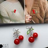 櫻桃胸針胸花可愛外套毛衣別針披肩扣裝飾