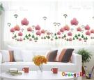 壁貼【橘果設計】開蒂蓮 DIY組合壁貼/...