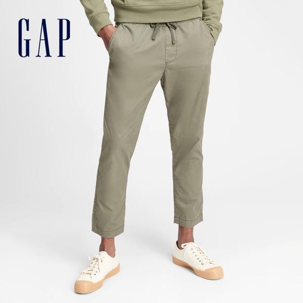 Gap男裝 時尚通勤鬆緊休閒褲 677367-軍綠色