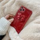 紅色立體蝴蝶結 適用 iPhone12Pro 11 Max Mini Xr X Xs 7 8 plus 蘋果手機殼