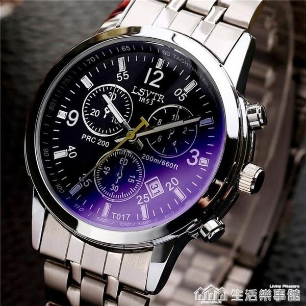 網紅同款鋼鏈手錶石英防水商務男表腕表學生皮帶手錶男情侶表女 生活樂事館