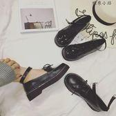 松糕厚底淺口單鞋學生娃娃小皮鞋