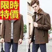 毛呢外套魅力非凡-型男精選保暖假兩件男大衣3色61x88【巴黎精品】