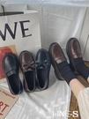 2021新款加絨黑色小皮鞋日系女jk英倫風復古一腳蹬韓版chic百搭鞋 korea時尚記