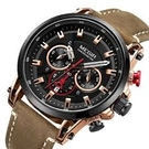 [Y21潮流精品直播] MEGIR 2085軍事風格日期計時多功能石英表時尚男士腕錶-003