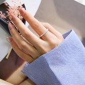 戒指 925純銀潮創意時尚簡約個性指環食指尾戒未鑲嵌 愛麗絲精品