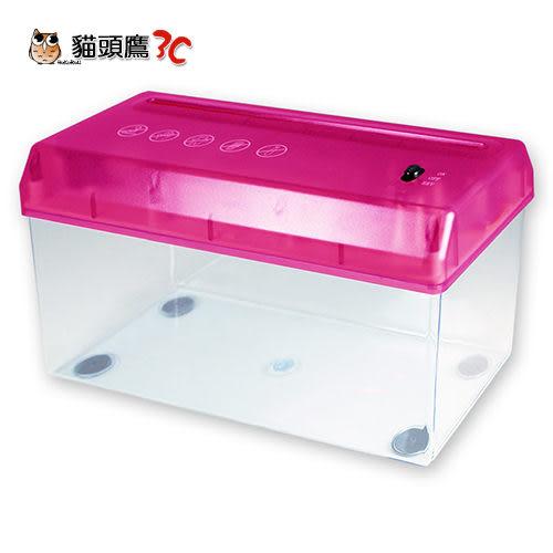 【貓頭鷹3C】A4 USB 輕便電動碎紙機-桃紅[USB-03B-P]