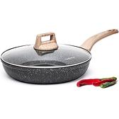 煎鍋系列 麥飯石不粘鍋鍋平底鍋煎鍋牛排鍋煎蛋煎魚電磁爐燃氣灶適用 快意購物網