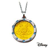 迪士尼金飾 健康天使米奇 黃金/白鋼項鍊