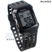 JAGA捷卡 超大液晶顯示 多功能電子錶 夜間冷光 可游泳 保證防水 運動錶 學生錶 M807-A(黑)