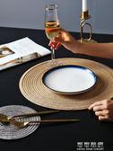 餐桌墊 4片裝日式圓形餐墊西餐墊創意餐桌墊家用北歐盤墊碗墊杯墊隔熱墊 流行花園