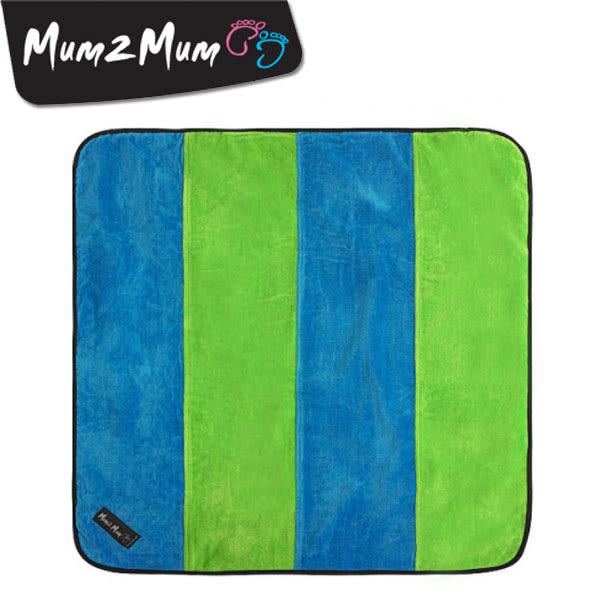 紐西蘭 MUM 2 MUM 時尚防水換尿布墊 藍/萊姆綠