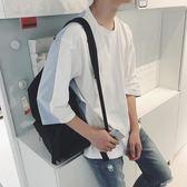 男生短袖體恤正韓褂頭寬鬆學生六分袖t恤男夏天七分袖百搭五分【寶貝開學季】