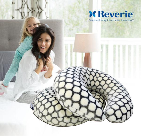 乳膠頸枕 Reverie幻知曲法蘭絨黑白圓點天然顆粒乳膠C型頸枕