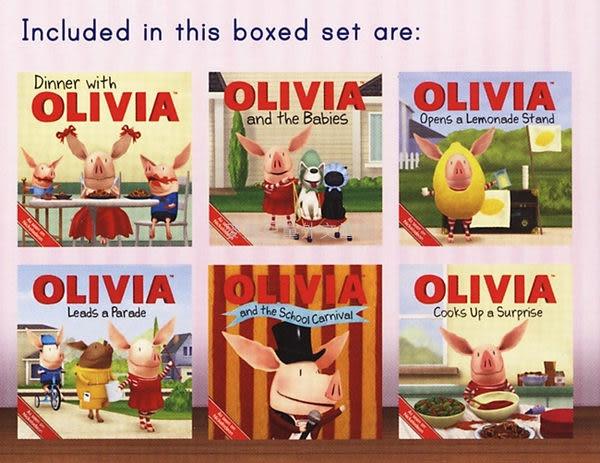 ◇ 小豬奧莉薇‧盒裝書 ◇OLIVIA ON THE GO  (內含六本書)