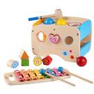 木質  高質感木製三合一積木敲琴敲打台...