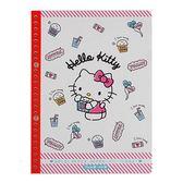 Sanrio HELLO KITTY日本製B5活頁洞洞膠裝筆記本(美味點心)★funbox★_UA54642