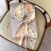 碎花夏季飄帶韓國絲巾女窄長條多功能發帶百搭裝飾絲帶小領巾【貼身日記】