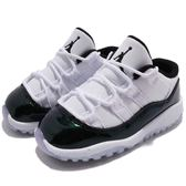 Nike Air Jordan 11 Retro Low BT Easter 復活節 喬丹 11代 低筒 白 綠 皮革 童鞋 小童鞋【PUMP306】 505836-145