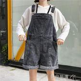 褲子女裝夏裝學生背帶褲寬鬆口袋休閒褲顯瘦牛仔褲連體褲百搭 貝兒鞋櫃
