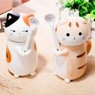 貓咪杯子情侶動物水杯可愛創意陶瓷馬克杯咖...