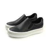 HUMAN PEACE 牛皮 懶人鞋 厚底 增高 休閒 黑色 女鞋 6939 no323