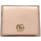【GUCCI 古馳】547573 經典金屬GG LOGO卡片/零錢夾(粉色)
