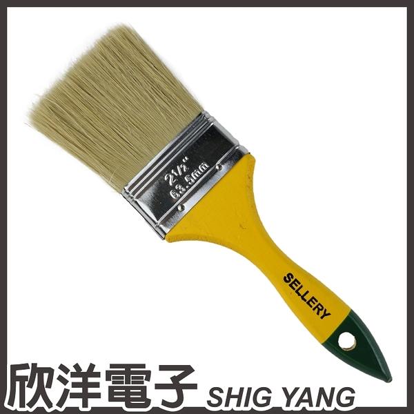 SELLERY 舍樂力 長毛木柄油漆刷2號半 (S31-157)