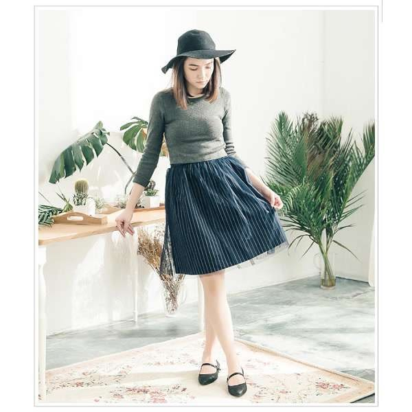 【ORiental TRaffic】甜美俏皮平底瑪莉珍鞋-高雅黑