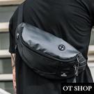 OT SHOP [現貨] 包包 斜肩背 斜胯 繫腰間 腰包 胸包 黑色尼龍包 中性男女 韓系個性潮流 H2060