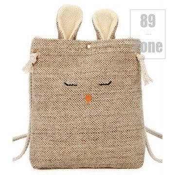 帆布包 89zone 韓版可愛純色麻布兔子帆布包 113100514