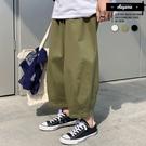 長褲 日式街頭舒適寬鬆休閒大寬褲【XWY...