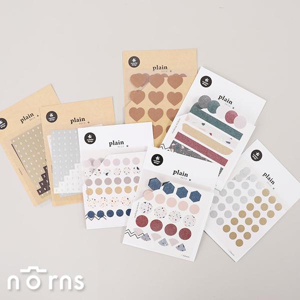 【Suatelier Plain deco P3】Norns 韓國進口貼紙 hologram 手帳貼紙 標籤貼 禮品包裝