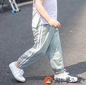兒童長褲運動褲女子休閒夏裝薄款男童寶寶燈籠褲【淘夢屋】