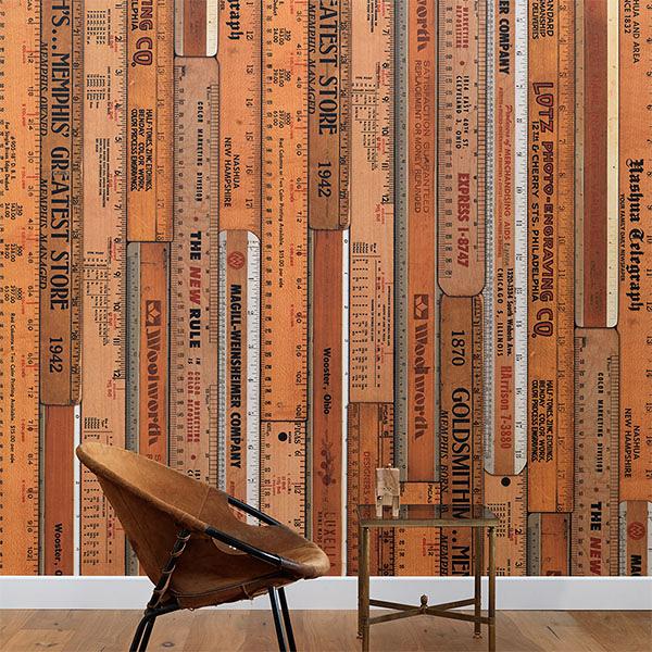 客廳壁紙 木紋 工業風壁紙 【荷蘭進口牆紙】NLXL LAB PRINTED RULERS MRV-06