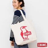 CHUMS 日本 帆布包 購物袋 舒適寬肩帶 紅 CH602149R001