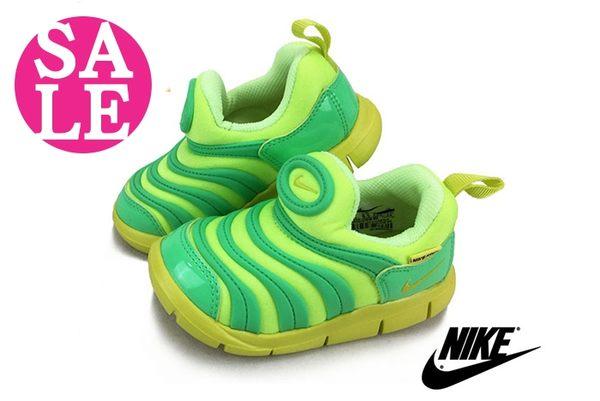 NIKE 童運動鞋 DYNAMO FREE 毛毛蟲鞋 小童 零碼出清n7102#黃綠◆OSOME奧森童鞋