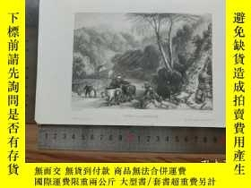 二手書博民逛書店【罕見】19世紀 銅 鋼版畫 單幅 VIEW NEAR THEU
