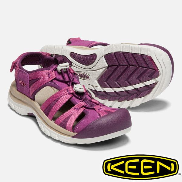 【KEEN 美國】Venice II 女護趾水陸兩用鞋『紫紅/酒紅』1018850 健行.涼鞋.自行車.溯溪.健走.沙灘鞋