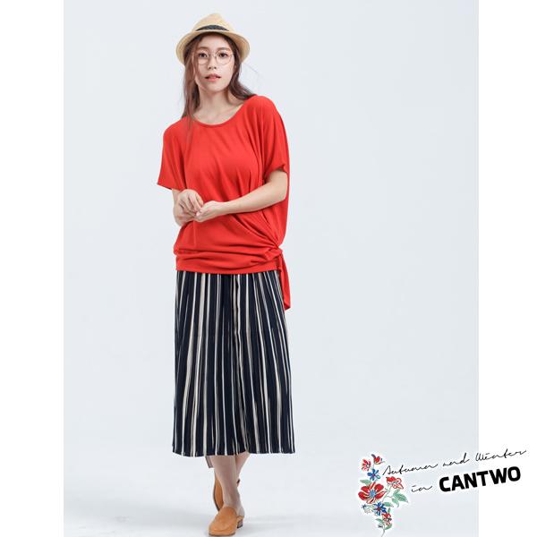CANTWO純色扭轉單結上衣(共三色)~秋冬新品上架
