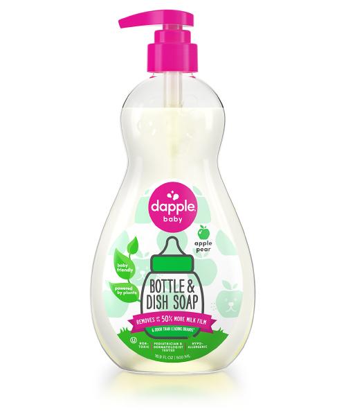 【愛吾兒】美國 dapple 奶瓶及餐具清潔液-蘋果甜梨500ml 美國原裝進口