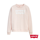 Levis 女款 重磅大學T / 高密度膠印Logo / 寬鬆休閒版型 / 復古粉