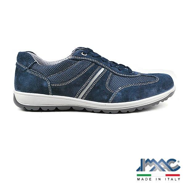 【IMAC】義大利牛皮氣墊休閒運動鞋  深藍(70391-DBU)