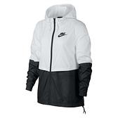 Nike AS W NSW JKT WVN 女 白黑 拼接 風衣 外套 AJ2983-102